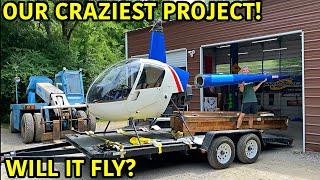 Rebuilding A Robinson R22 Helicopter!!!