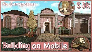 Bloxburg - No Gamepasses House Speed-build (Building on Mobile)