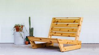 Build An Outdoor Lounge Chair | How To DIY