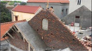 Great building Projects - How To Build A Crossed Roof - Beautiful Home Construction Design
