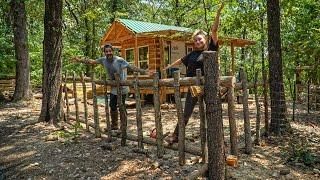 Standing Our Ground, Staying Strong!  Bushcraft Off Grid Fence Build for the Tiny House