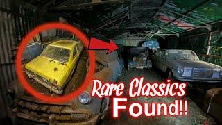 WHAT WE FOUND IN AN ABANDONED GARAGE!  Barn Find Classic cars Mk1 Escort Rally
