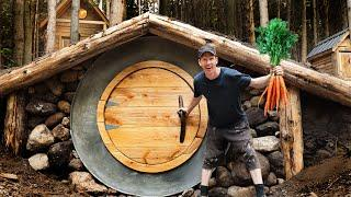Building Root Cellar (Hobbit House) | Primitive Food Preservation at the Off Grid Cabin!