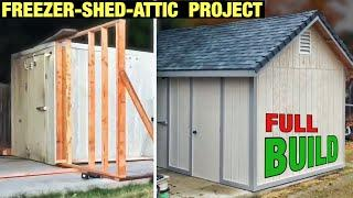 10min Build - START TO FINISH (House-Shed-Freezer-Attic) FULL BUILD Project Mini Home
