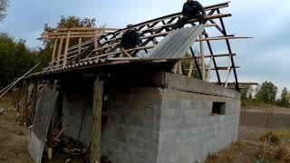 Стройка. Строю сарай своими руками. Крыша. часть 5. Build. I build a barn with my own hands. Roof.