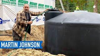 Hand Digging a Hole for a 2500 Gallon Rainwater Harvesting Tank | Off Grid Cabin Build #47