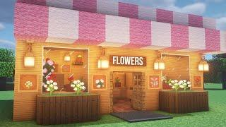 How to build a flower shop in Minecraft