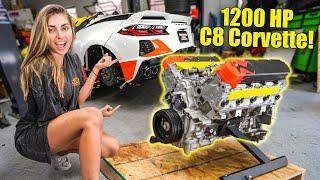 TAKING DELIVERY OF MY NEW 1200+ HORSEPOWER C8 ENGINE!