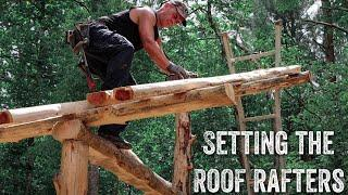 S2 EP24   TIMBER FRAME   FOREST KITCHEN   SETTING THE ROOF RAFTERS