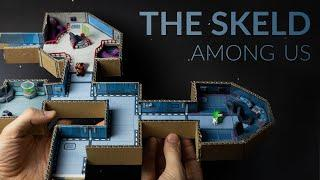 Building THE SKELD (Among Us) with cardboard & clay – Part 1