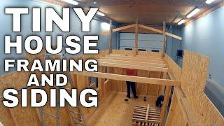 Cheap Tiny House on wheels build #3 - Framing walls and installing OSB sheating