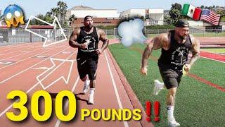 STRONGEST MEXICAN TO RUN A QUARTER MILE... WEIGHTING OVER 300 POUNDS