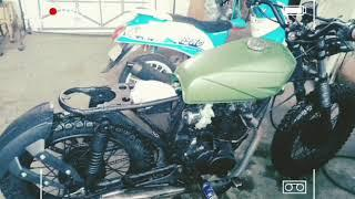 Cafe Racer Brat Style build by: RETRO MOTORCYCLE Garage (part1)