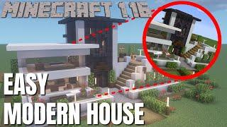 Minecraft 1.16 Modern House: How to build a Modern House in Minecraft 1.16 Tutorial (2020)