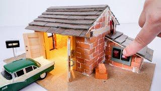 How to Build a Mini Garage with Mini Bricks | Bricklaying Model Upgraded Version