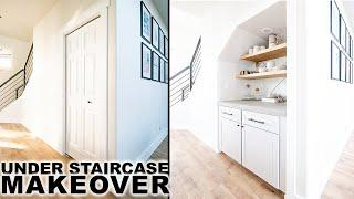 DIY Under Staircase Makeover | Closet to Pantry