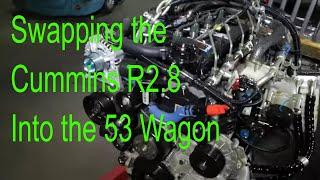 Installing a Cummins R2.8 into a 53 Willys; Big Tire Garage Ep 5