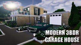The Sims 4   Speed Build #4   Modern 3 BDR House With Garage