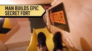 Man Builds EPIC SECRET FORT in His Home | Localish