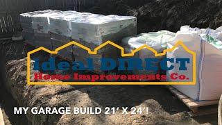 Garage Build Episode #2 Block Foundation Build with Time Lapse Footage