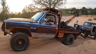 RAT ROD Tow Truck Rescues JEEP!!