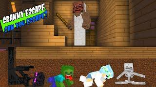 Monster School : ESCAPE TO GRANNY HOUSE - Minecraft Animation