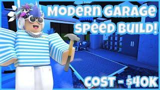 Bloxburg Modern Garage Speed build! | #Bloxburg