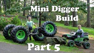Custom Mini Grave Digger 4x4 Monster Truck Build Modified Powerwheels Part 5