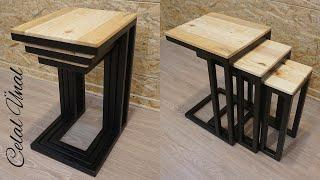 Paletten zigon sehpa / Making a side table from pallets / Pallet side table diy