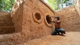 Build The Secret Underground Tunnel House In Deep Jungle using Ancient Skills